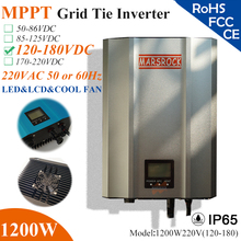 1200W MPPT solar Grid Tie Micro Inverter with IP65 waterproof,120-180VDC,220V(190-260VAC),LED&LCD display for solar panel system