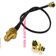 50pcs IPX / u.fl to SMA Male Female Connector Adapter RF Pigtail Cable 1.13mm Black 15cm(China)