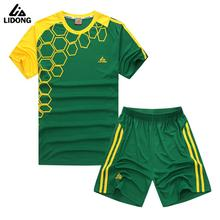 2017 LIDONG Men Sports Survetement Football Training Suits Adult Soccer Jerseys Sets Breathable Futbol Jersey Kits Customized