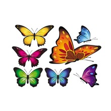 Beautiful 3D butterfly decoration automobile accessories ,die cut vinyl stickers and decals for whole body on cars(China)