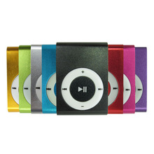 Metal Mp3 Music Player With Micro TF SD Slot & Clip & No Screen 8 Colors Black Silver Blue Green Red Rose Red Purple Gold(China)