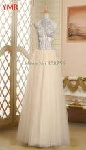 2016 Real Photo Fast Delivery A-Line Long Tulle Prom Dresses Beading Us Size 4 /6/ 8/ 10/ 12  In Stock AINGF833