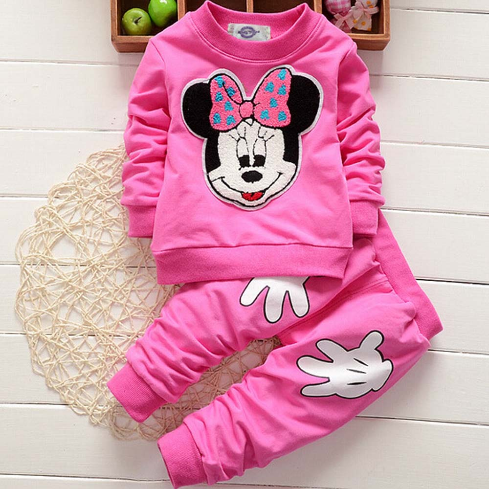 2017 Toddler Girls Sport Clothing Sets Minnie Long Sleeve Hoodie+Pants Clothes Sets Autumn Winter Outwear Kids Tracksuit DA703<br><br>Aliexpress