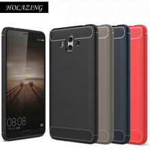 HOLAZING Glossy Rugged Full Body Armor Case for Huawei Mate 10 Pro Anti-Shock Absorption Luxury Carbon Fiber Design Cover(China)