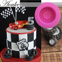 1PCS Food Grade Silicone tyre Shape For Silicone Cake Molds, Fondant Cake Decorate M128(China)