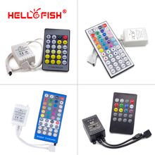 Hello Fish LED controller 20/24/44 key IR Remote Control Music controller Applicable RGB LED strip(China)