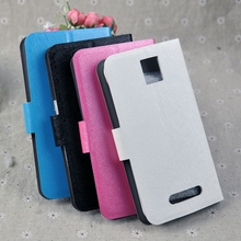 For Highscreen Boost 3 SE Case Silk Wave PU Leather Case Cell Phone Flip Flap Style Cover