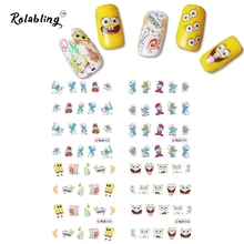 2017 New Arrival Cartoon Character Series Nail Sticker Beauty Fashion Wraps All for Nail Art Decoration Fingernail Stickers