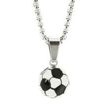 RINYIN High Quality Vintage Football Memorial Soccer Pendant for Men Women Link Chain Fashion Jewerly Stainless Steel Necklace(China)