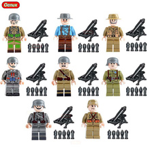 Oenux Newest WW2 Classic Military Soldier Soviet USA Italian French British Chinese Army Figure Building Block Brick Toy For Kid(China)