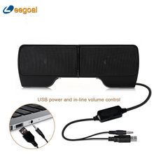 Creative Clip Speaker Mini Portable Clipon USB Stereo Speaker Line Controller Soundbar for Laptop Notebook PC Computer with Clip(China)