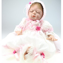 So Cute Handmade Silicone Reborn Baby Dolls with Clothes,20 Inch/ 50 cm Lifelike Baby Reborn Doll Gift For Children(China)