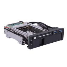 "Dual Bay 3.5"" + 2.5"" SATA III Hard Drive HDD Enclosure & SSD Tray Caddy Internal Mobile Rack Station with USB 3.0 Port Hot Swap"