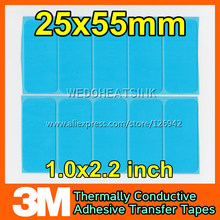 500pcs 3M 8810 25x55mm Thermal Compound Adhesive Transfer Cooling Pad for Heat Dissipation(China)