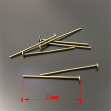Vintage Style Antiqued Bronze Tone Iron Nail Jewellery Findings 25*1*1mm 400pcs-33433