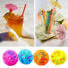 10cm dessert fruit cake sign umbrella sign Cocktail Decoration 50pcs/lot Random mixed colors