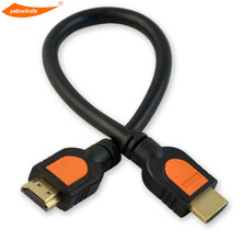 Yellow Kinfe High Speed 0.3M HDMI Cable Adaptor for HDTV 1080p Hight Speed HD 3D 30CM 1ft Short HDMI Cable(China)