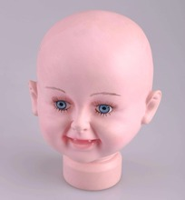 High Quality Unbreakable Realistic Plastic Child Mannequin Dummy Head For Hat Display,Kid Manikin Heads