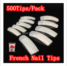 Hot sale 500pcs pre design natural half-cover colors false nail stickers tips fake nails acrylic artificial nails decoration(China)