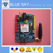 Free shipping 1PCS/LOT SIM900 GPRS/GSM Shield Development Board Quad-Band Module  Compatible High Quality