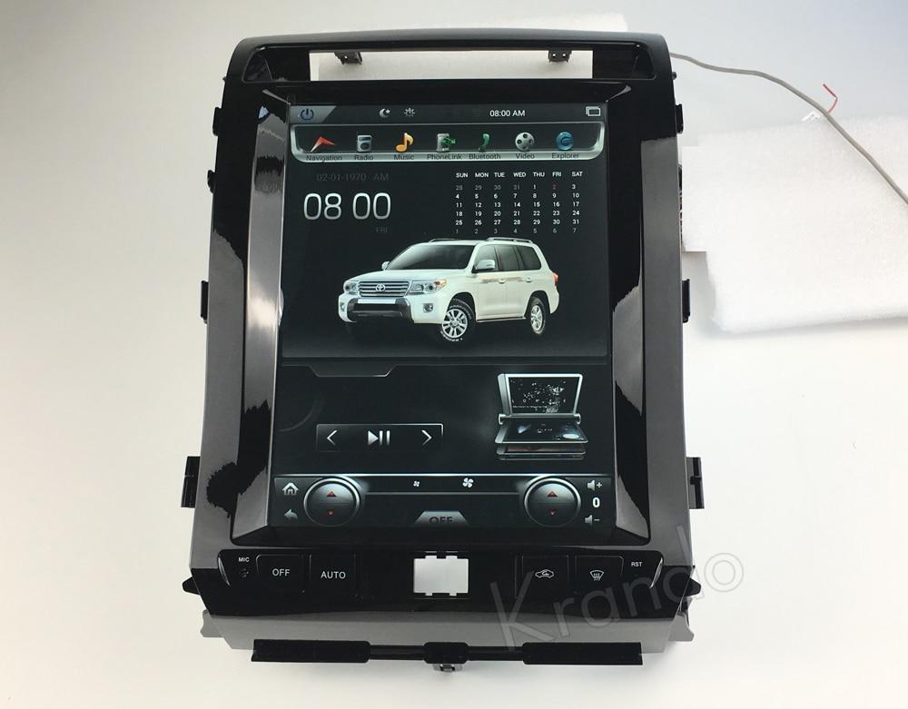 Krando tesla vertical screen land cruiser 2008-2015 Android car radio gps navigation multimedia system (1)