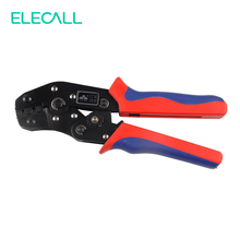 Bare Terminal Crimping Pliers Ratchet Non-insulated Terminal Crimping Tool Plier For Crimping Connector 0.5-2.5mm2 / 20-14 AWG(China)