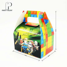 8pcs/lot Candy Box Cake Box for Kids  Ninjago Theme Party Baby Shower Party Decoration Party Favor Supplies