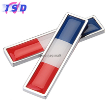 2 Pcs Car Decoration Decal Auto Sticker with French Flag Logo for Opel astra Pontiac vibe Nissan qashqai SSANG YONG Chevrolet(China)