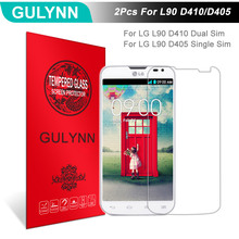 Buy 2Pcs/Lot GULYNN Amazing 2.5D 9H Tempered Glass LG D405 Single SIM Screen Protector Glass Tough Package for $3.77 in AliExpress store