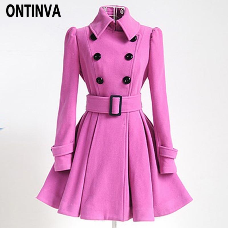 Women Long Jacket Thin Overcoat Outwear Slim Double Breasted Blazer Suit Coat