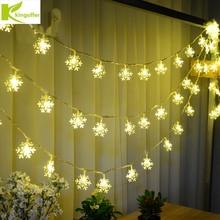Kingoffer Snowflake USB String Light For Home Yard Patio Bedroom Tree Decoration Wedding Christmas Indoor Fairy Light 10M 60LED