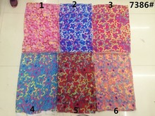 150cm width printed soft chiffon fabric Geometry Pentagram pattern for scarf and headband LS-J7386
