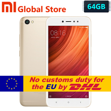 "Official Xiaomi Redmi Note 5A 4GB 64GB smartphone telephone  Redmi Note5A Snapdragon 435 5.5"" 13.0MP Fingerprint"