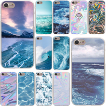 The waves Ocean water Hard Phone Cover Case Transparent for Apple iPhone 7 7 Plus 6 6s Plus 5 5S SE 5C 4 4S Coque Shell