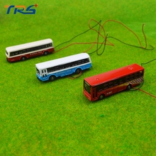 5pcs/lot 1:150 Scale Model Light Cars Miniature Alloy Scale Model bus with LED