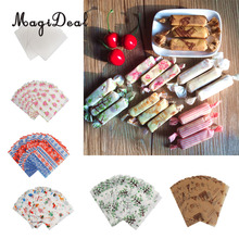 MagiDeal 50pcs/Lot Sheet Wrapping Waxed Paper Waterproof Greaseproof Candy Pastry DIY Birthday Wedding Party Candy Packing Wrap