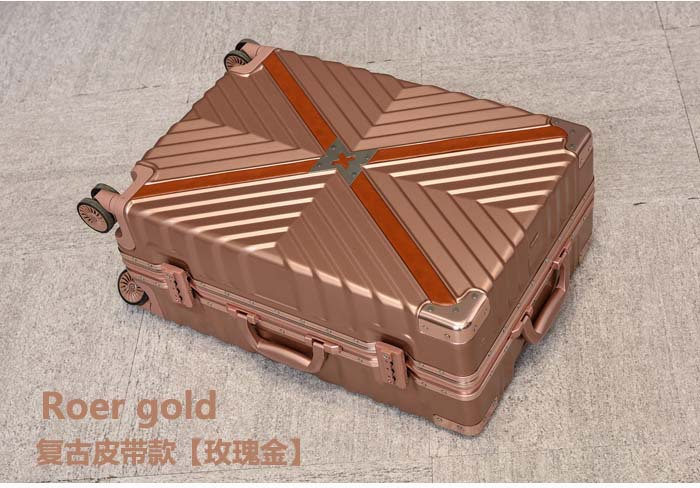 Retro Travel Trolley Luggage With X Belt Aluminum Frame Alloy Business Rolling Luggage Airplane Suitcase Spinner Wheels (13)