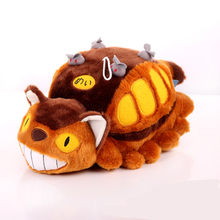 My Neighbor Totoro Toys Plush Doll Official Yellow Lying Bus Car Cat Hot Anime Plush Home Ornament Collection Gift Doll New(China)