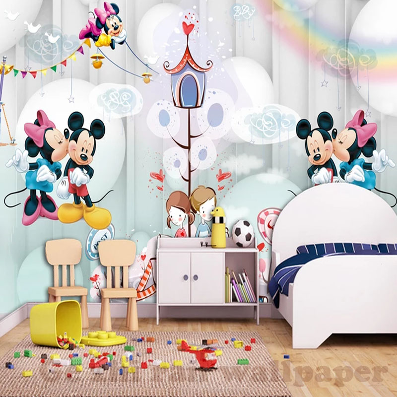 HTB15YvDesyYBuNkSnfoq6AWgVXa5 - 3D Cartoon Mural Wallpaper For Children Room-Free Shipping