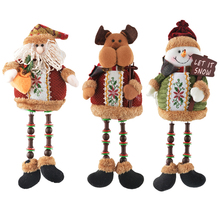 Hoomall Cute Christmas Santa Claus Doll Gift For Children Christmas Ornaments Navidad For Home Christmas Decoration Supplies