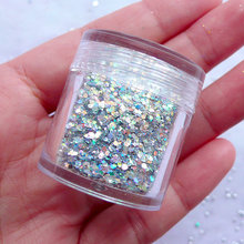 10ml box! Hot 1Box mixed Holographic Ultra Nail Glitter Flake Dust Powder Manicure DIY Nail Art Decoration,#Holo7,free shipping