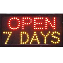 2017 direct selling 10x19 Inch Semi-outdoor Led Neon Sign for store open seven days Letrero Luminoso Open(China)