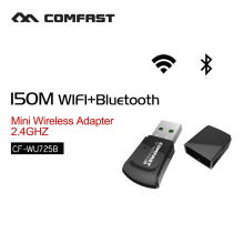 Wireless adapter mini pc wifi adapter 2.4G lan adapter usb wi-fi network card 150mbps usb bluetooth 4.0 COMFAST CF-WU725B