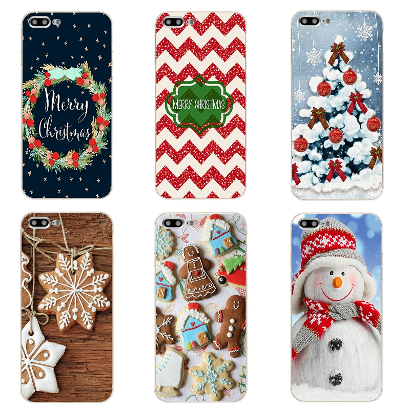 "Apple iPhone 7 Plus Cover Phone Case 5 5C SE Shell 4.7"" 6 6S 5.5 Inch Transparent Cover Soft Silicon Christmas Day Pattern"