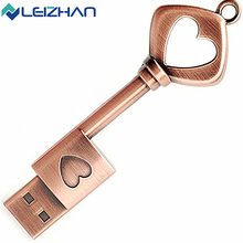LEIZHAN 2.0 Metal USB Flash Drive Waterproof  Metal Pendrive 4G 8G 16G 32G 64G USB Flash Drive USB Memory Stick U Disk