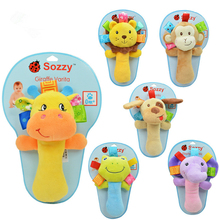 Baby Toys Rattle Educational Toys Infant Plush Mobile Baby Toys Lather Crib Car Hanging Rattles Stroller Accessories