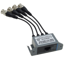 IMC Hot New CCTV 4 Channel Passive UTP Transmitter Video Balun BNC Male to UTP RJ45 CAT5