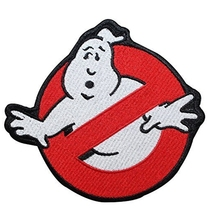 Ghostbusters No Ghost Movie Comics Logo Kid Baby Jacket T shirt Patch Iron on Embroidered Symbol Badge Cloth Sign Costume(China)