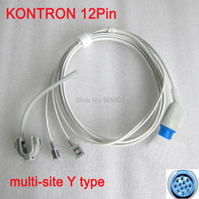 Compatible Kontron 7840,7845,Minimon7137,Kolormon,Micromon,Supermon,Trakmon 12pin multi site y model spo2 sensor pulse probe