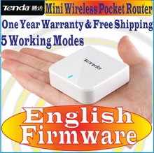 EnglishFirmware Tenda A6 G6 Mini Router Pocket WiFi Wireless-N AP Router Repeater WISP 150M wireless router for match smartphone